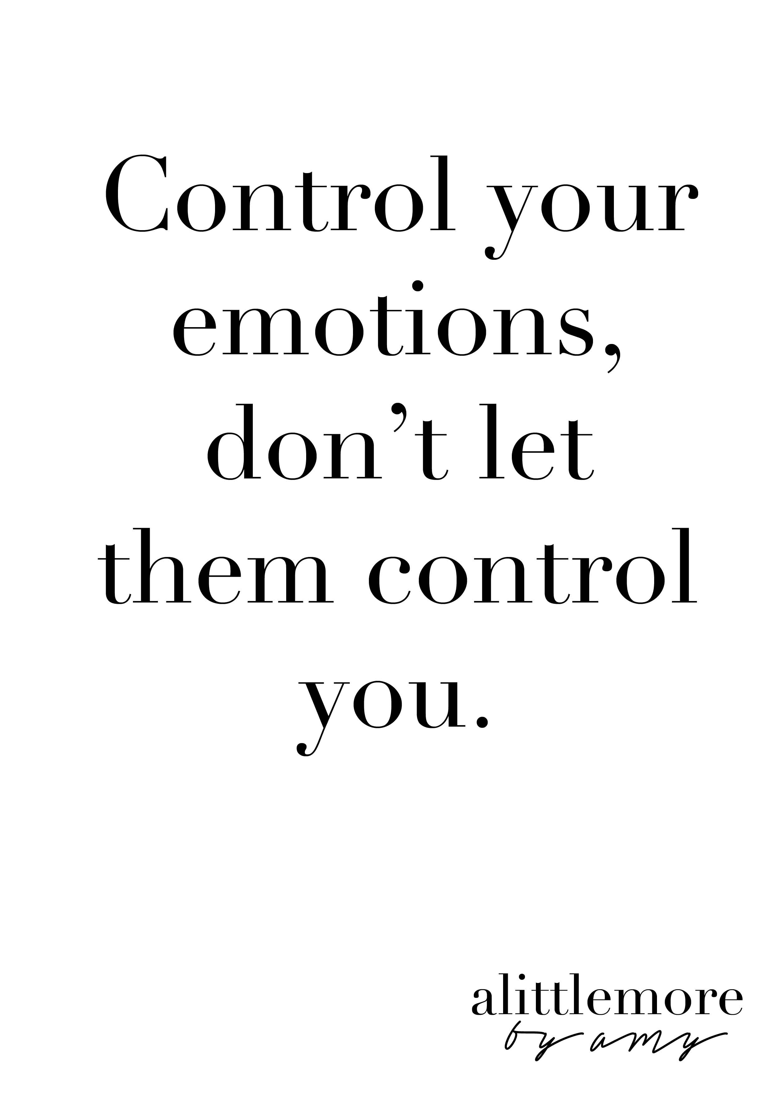 How to control emotions
